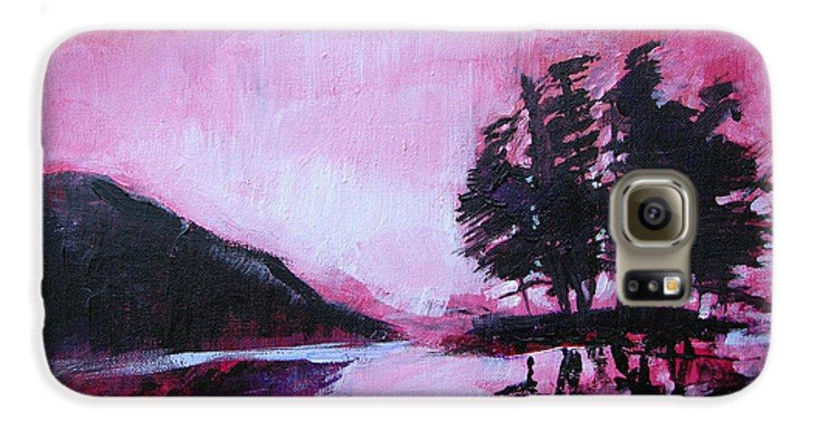 Ruby Dawn Galaxy S6 Case featuring the painting Ruby Dawn by Seth Weaver