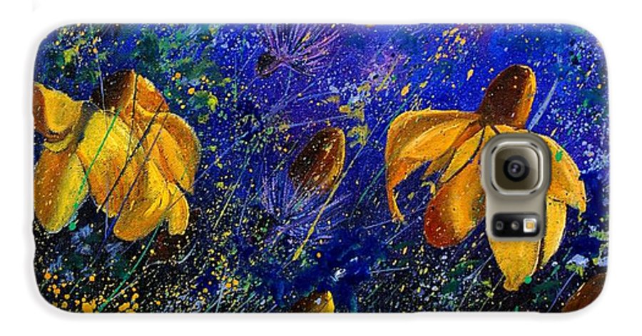 Poppies Galaxy S6 Case featuring the painting Rudbeckia's by Pol Ledent
