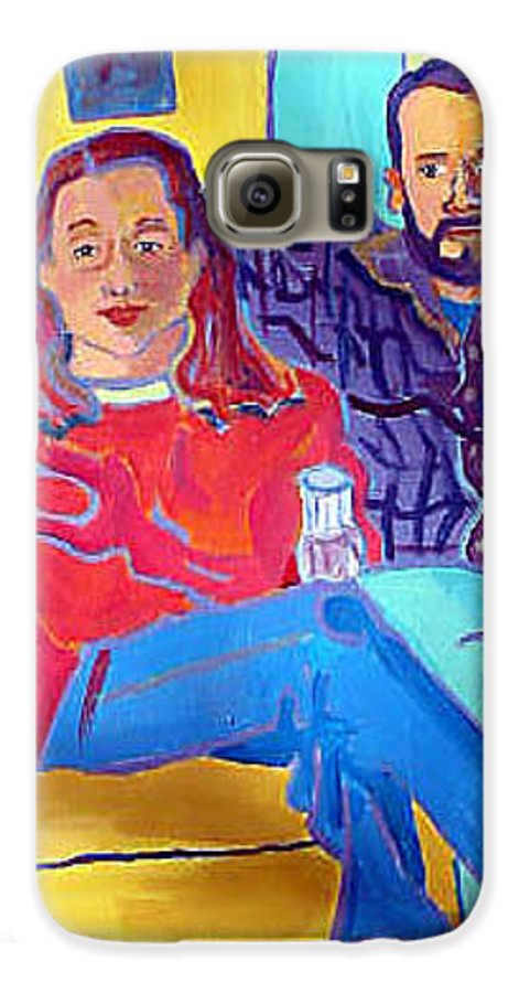 Portraits Galaxy S6 Case featuring the painting Rudy And Molly by Debra Bretton Robinson