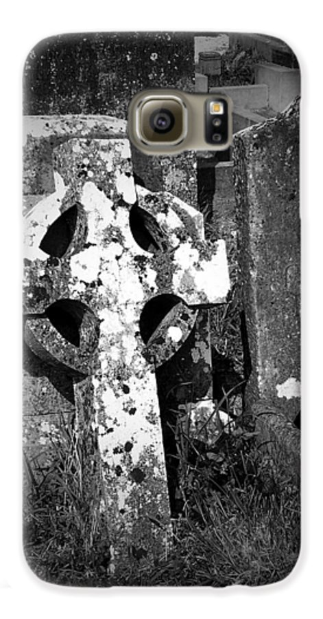 Celtic Galaxy S6 Case featuring the photograph Rugged Cross At Fuerty Cemetery Roscommon Ireland by Teresa Mucha