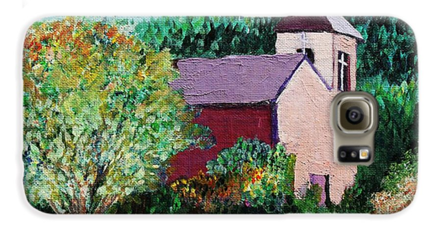 Church Galaxy S6 Case featuring the painting Ruidoso by Melinda Etzold