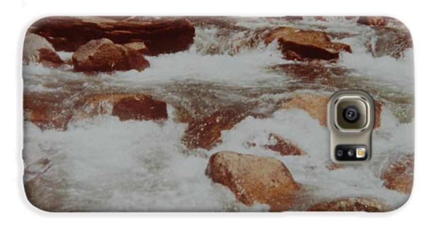 Water Galaxy S6 Case featuring the photograph Rushing Water by Rob Hans