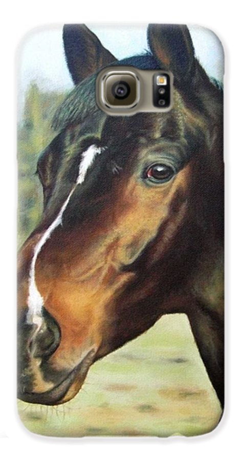Horse Galaxy S6 Case featuring the painting Russian Horse by Nicole Zeug