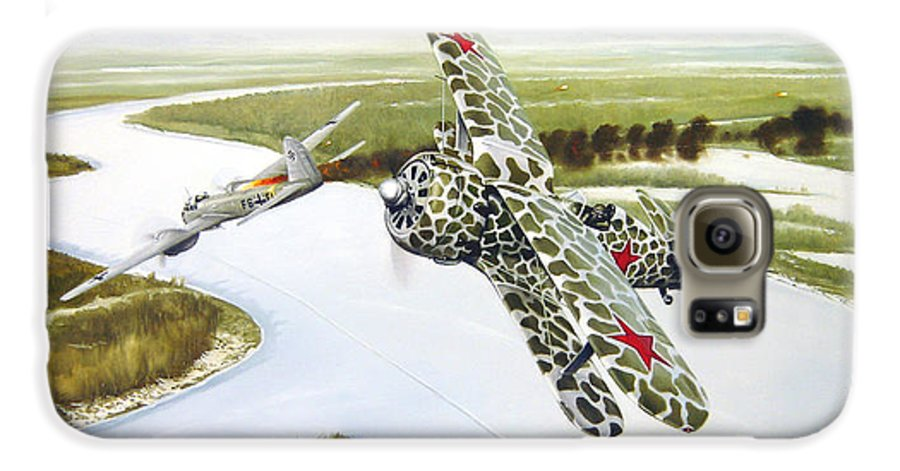 Aviation Galaxy S6 Case featuring the painting Russian Roulette by Marc Stewart