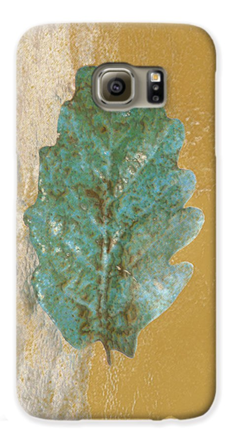 Leaves Galaxy S6 Case featuring the photograph Rustic Leaf by Linda Sannuti