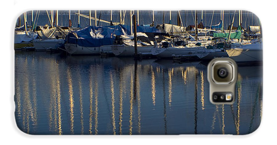 Mast Galaxy S6 Case featuring the photograph Sailboat Reflections by Idaho Scenic Images Linda Lantzy