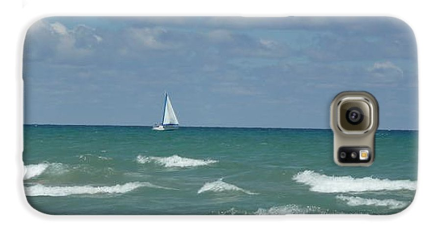 Scenery Galaxy S6 Case featuring the photograph Sailing Away On The Lake by Barb Montanye Meseroll