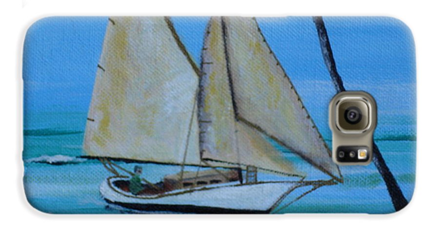 Sailboat Galaxy S6 Case featuring the painting Sailor's Dream by Susan Kubes