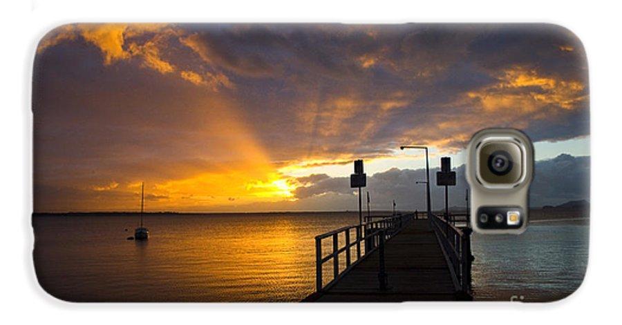 Sunrise Galaxy S6 Case featuring the photograph Salamander Bay Sunrise by Avalon Fine Art Photography