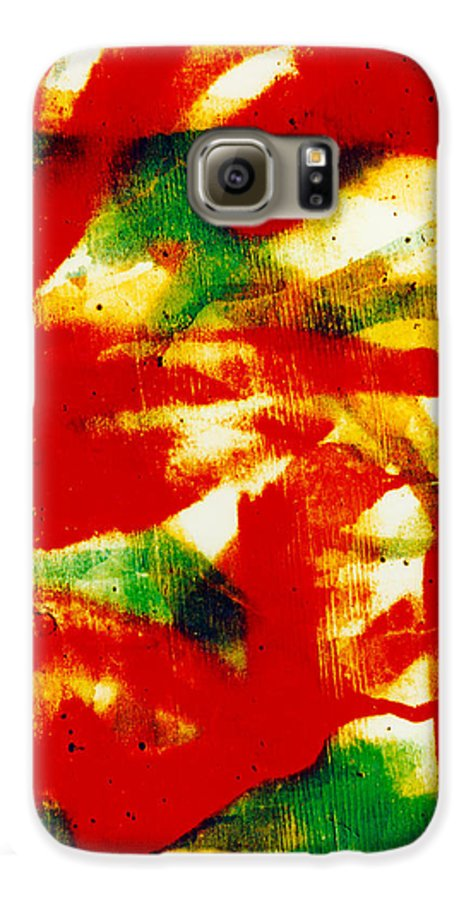 Abstract Galaxy S6 Case featuring the photograph Salsa by David Rivas