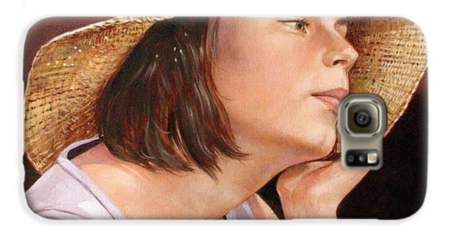 Portrait Galaxy S6 Case featuring the painting Sammie by Jerrold Carton