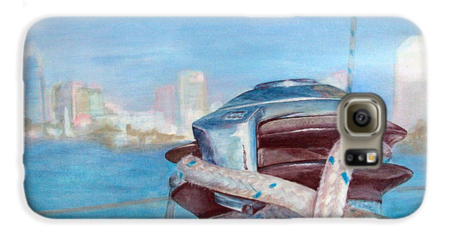 Landscape Galaxy S6 Case featuring the painting San Diego by Muriel Dolemieux