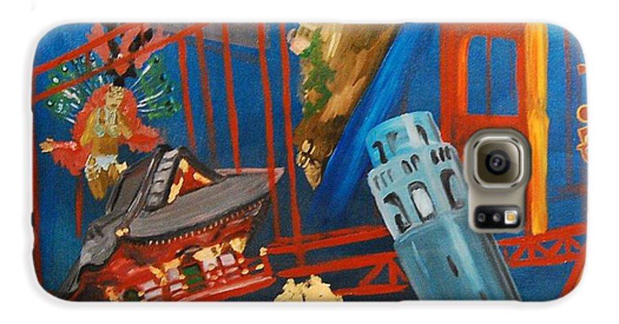 Golden Gate Bridge Galaxy S6 Case featuring the painting San Fran by Lauren Luna