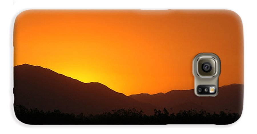Sunset Galaxy S6 Case featuring the photograph San Jacinto Dusk Near Palm Springs by Michael Ziegler