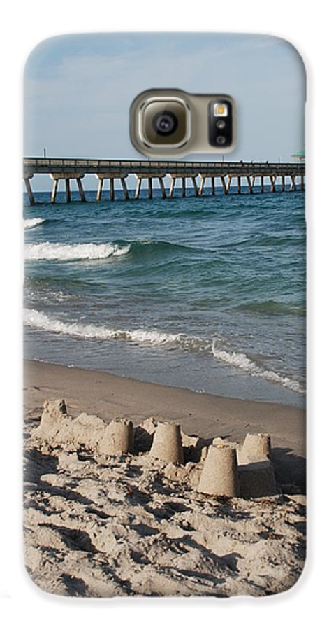 Sea Scape Galaxy S6 Case featuring the photograph Sand Castles And Piers by Rob Hans