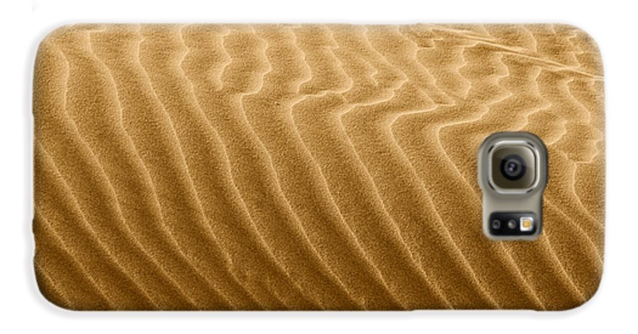Sand Galaxy S6 Case featuring the photograph Sand Dune Mojave Desert California by Christine Till