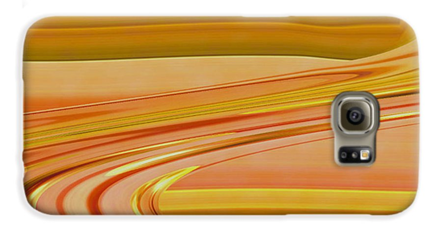 Sunset Art Galaxy S6 Case featuring the digital art Sands Of Time by Linda Sannuti