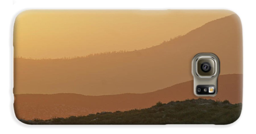 Sandstorm Galaxy S6 Case featuring the photograph Sandstorm During Sunset On Old Highway Route 80 by Christine Till