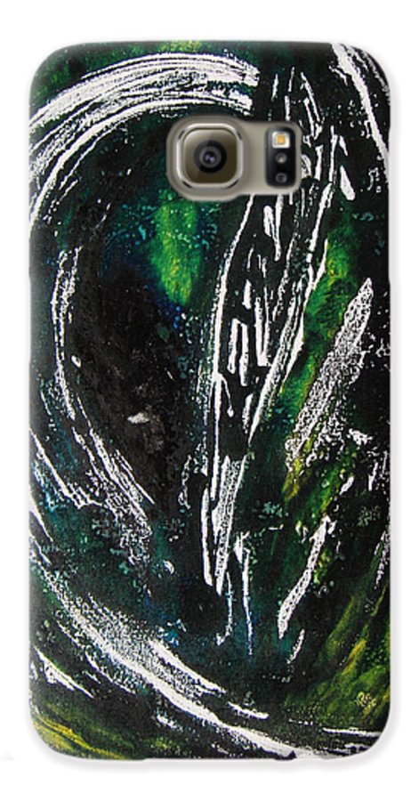 Abstract Galaxy S6 Case featuring the painting Sans Fin by Muriel Dolemieux