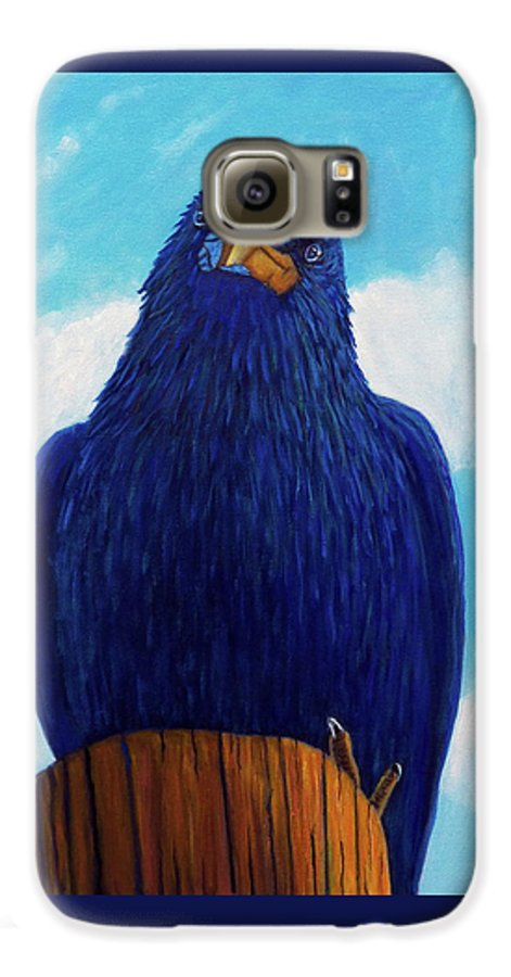 Raven Galaxy S6 Case featuring the painting Santa Fe Smile by Brian Commerford