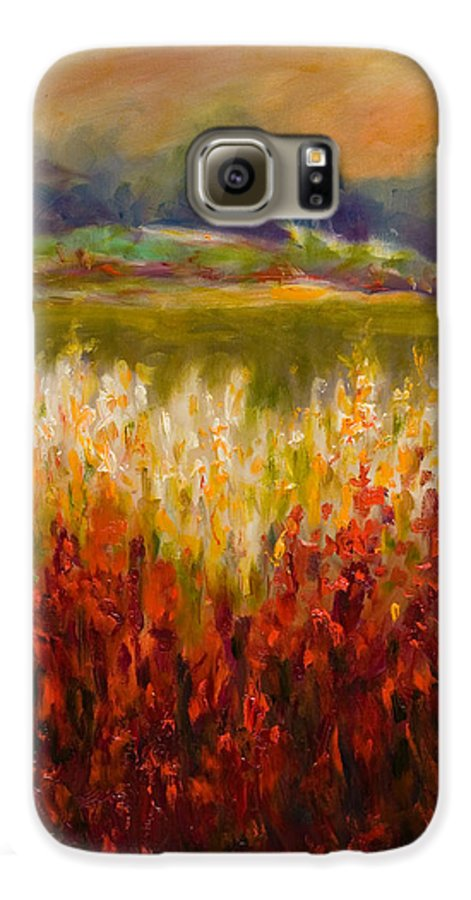 Landscape Galaxy S6 Case featuring the painting Santa Rosa Valley by Shannon Grissom