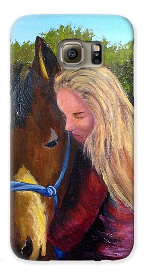 Galaxy S6 Case featuring the painting Sasha And Chelsea by Tami Booher