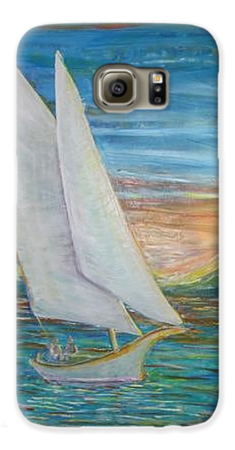 Sailboat Galaxy S6 Case featuring the painting Saturday Sail by Regina Walsh