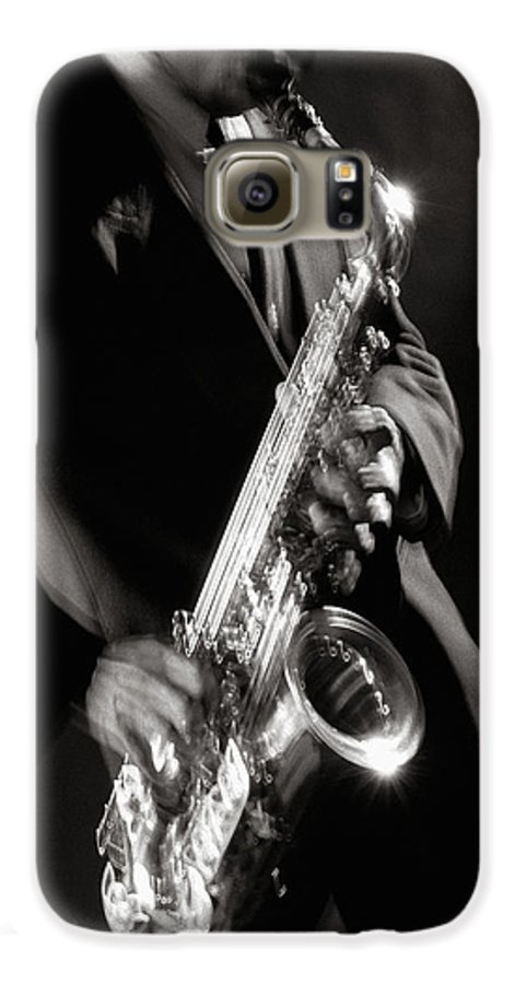 Sax Galaxy S6 Case featuring the photograph Sax Man 1 by Tony Cordoza