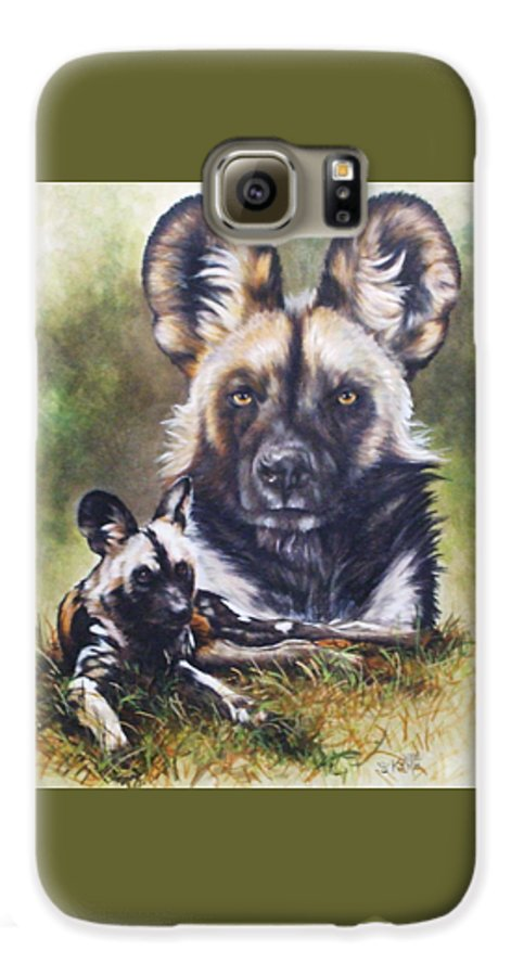 Wild Dogs Galaxy S6 Case featuring the mixed media Scoundrel by Barbara Keith