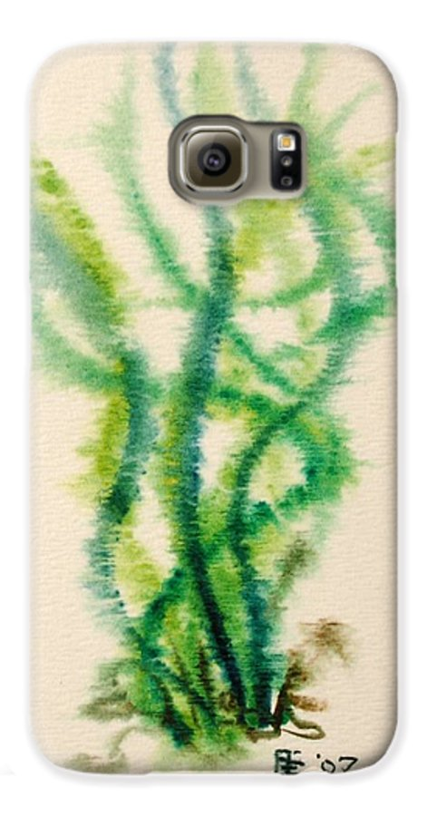 Sea Galaxy S6 Case featuring the painting Sea Bed One by Dave Martsolf