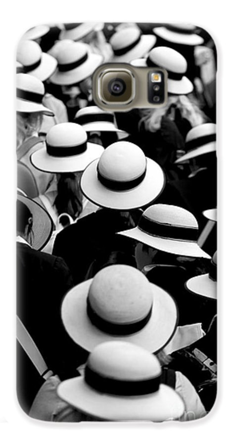 Hats Schoolgirls Galaxy S6 Case featuring the photograph Sea Of Hats by Sheila Smart Fine Art Photography