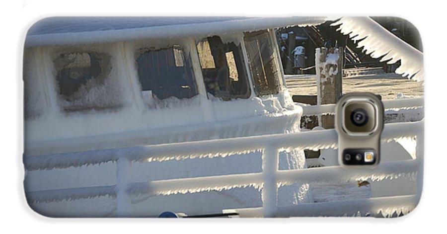 Fishing Galaxy S6 Case featuring the photograph Sea Spray Ice by Faith Harron Boudreau