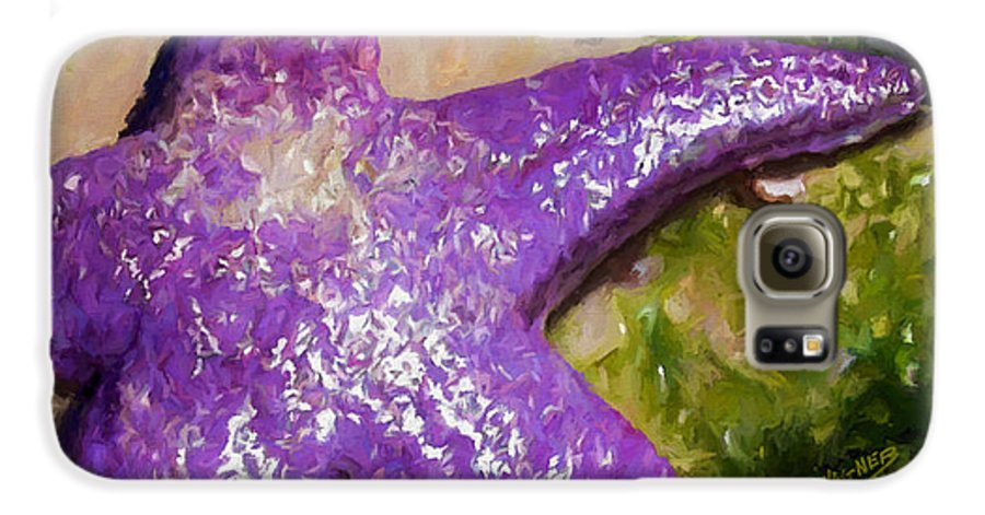 Sea Stars Galaxy S6 Case featuring the painting Sea Stars by David Wagner