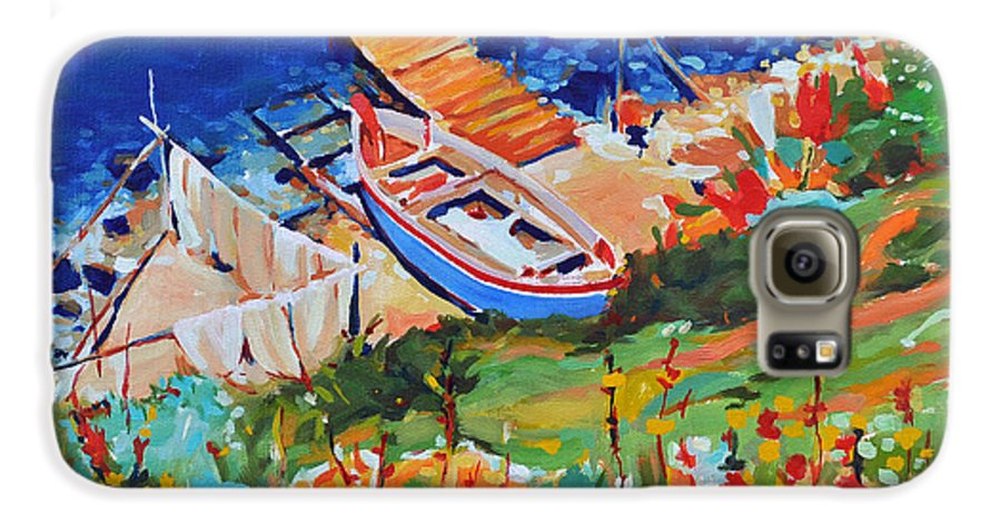 Seascape Galaxy S6 Case featuring the painting Seacoast by Iliyan Bozhanov