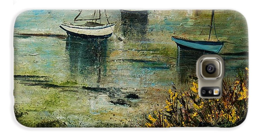 Seascape Galaxy S6 Case featuring the print Seascape 78 by Pol Ledent