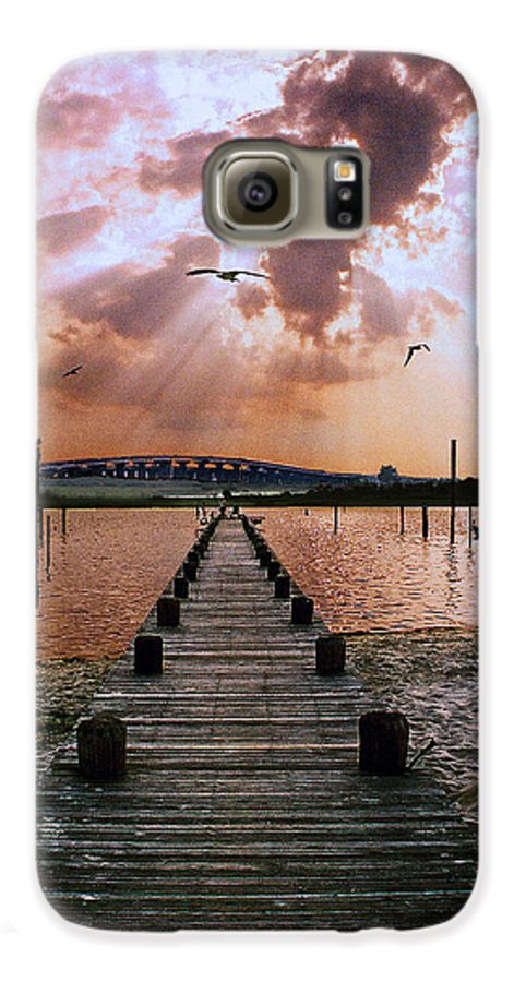 Seascape Galaxy S6 Case featuring the photograph Seaside by Steve Karol