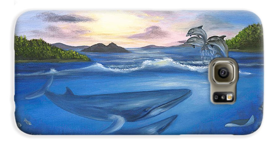 Landscape Galaxy S6 Case featuring the painting Seaworld by Anne Kushnick