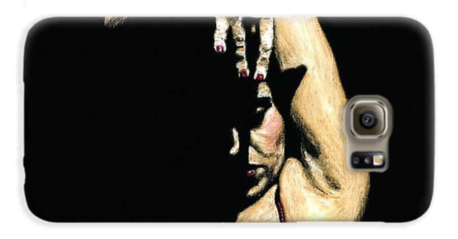 Flamenco Galaxy S6 Case featuring the painting Seclusion Del Flamenco by Richard Young