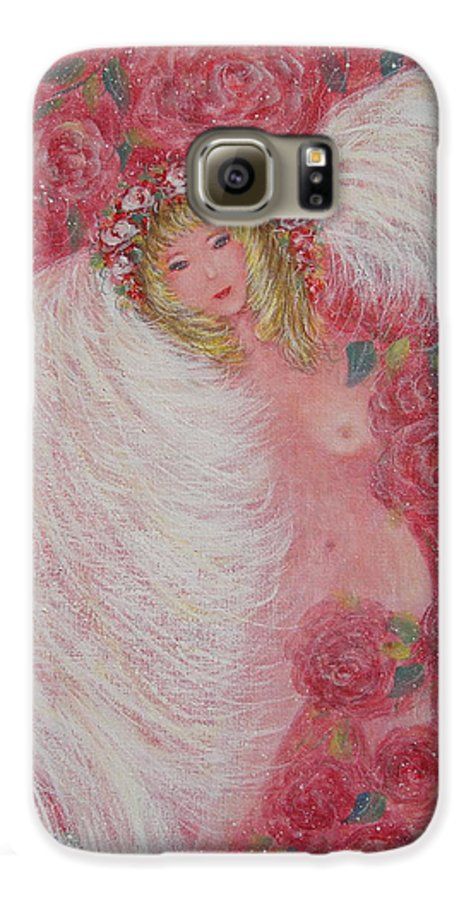 Angel Galaxy S6 Case featuring the painting Secret Garden Angel 6 by Natalie Holland