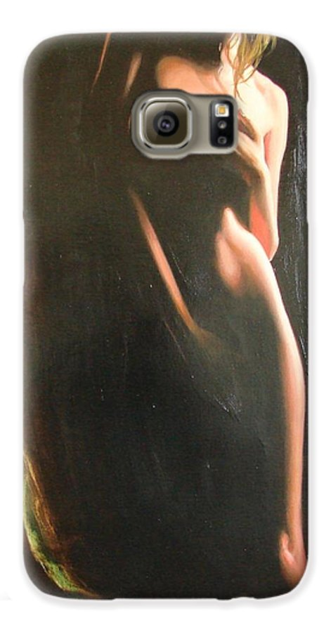 Art Galaxy S6 Case featuring the painting Secrets by Sergey Ignatenko