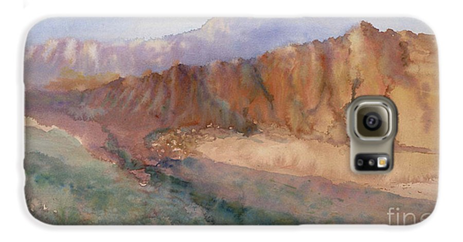 Sedopn Galaxy S6 Case featuring the painting Sedona by Ann Cockerill