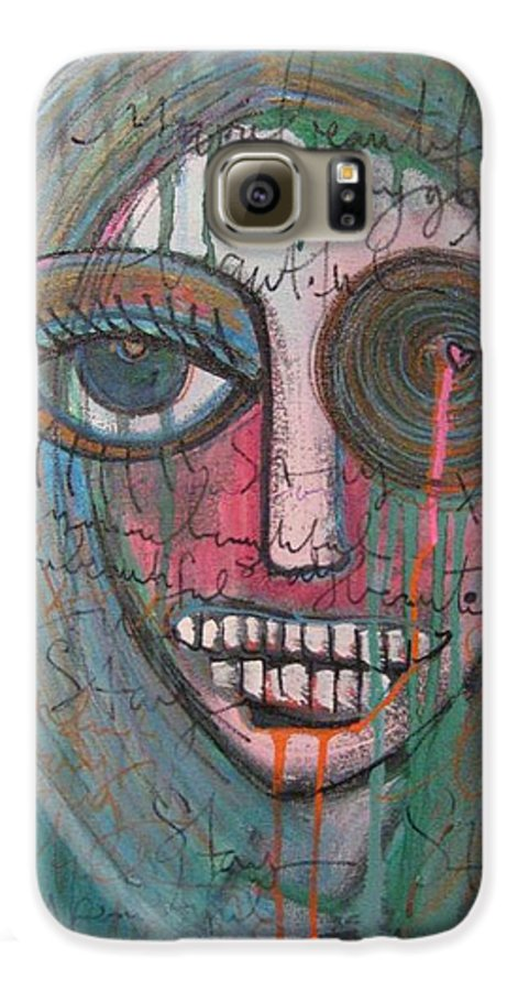Self Portraits Galaxy S6 Case featuring the painting Self Portrait Youre Beautiful by Laurie Maves ART