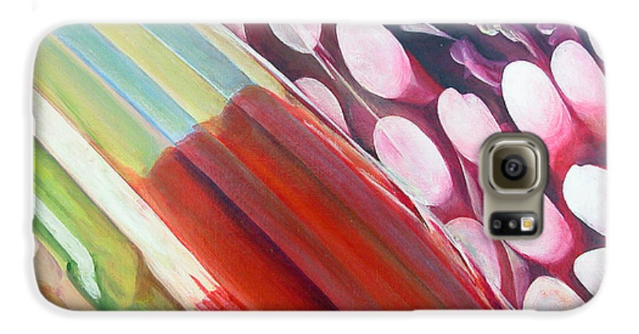 Abstract Galaxy S6 Case featuring the painting Sens 2 by Muriel Dolemieux