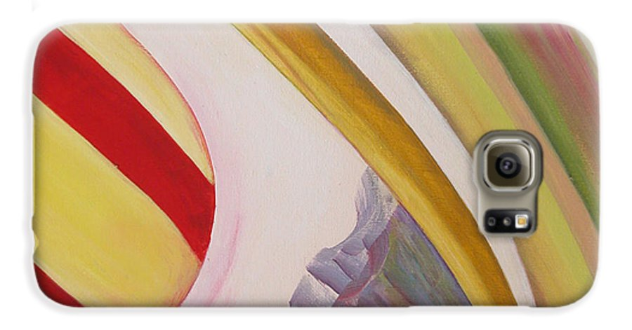 Abstract Galaxy S6 Case featuring the painting Sens 4 by Muriel Dolemieux