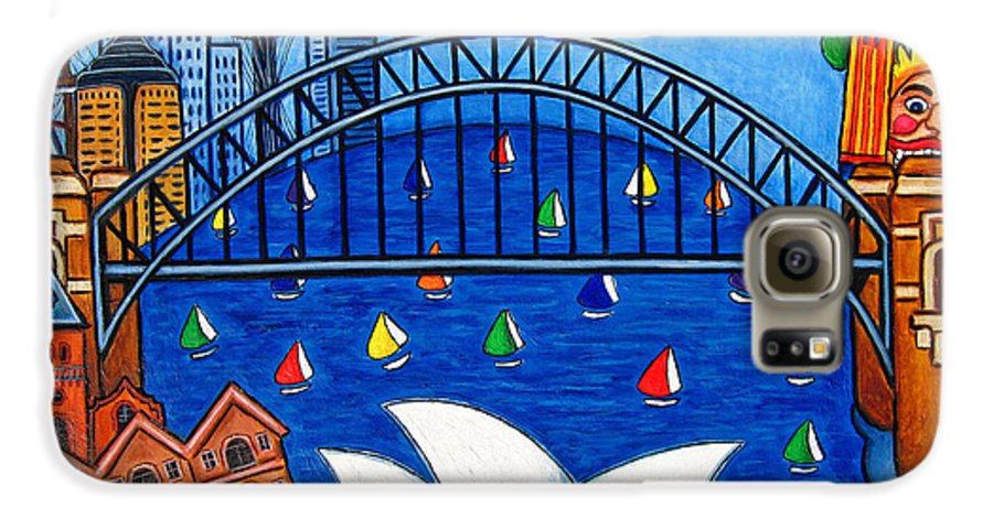 House Galaxy S6 Case featuring the painting Sensational Sydney by Lisa Lorenz