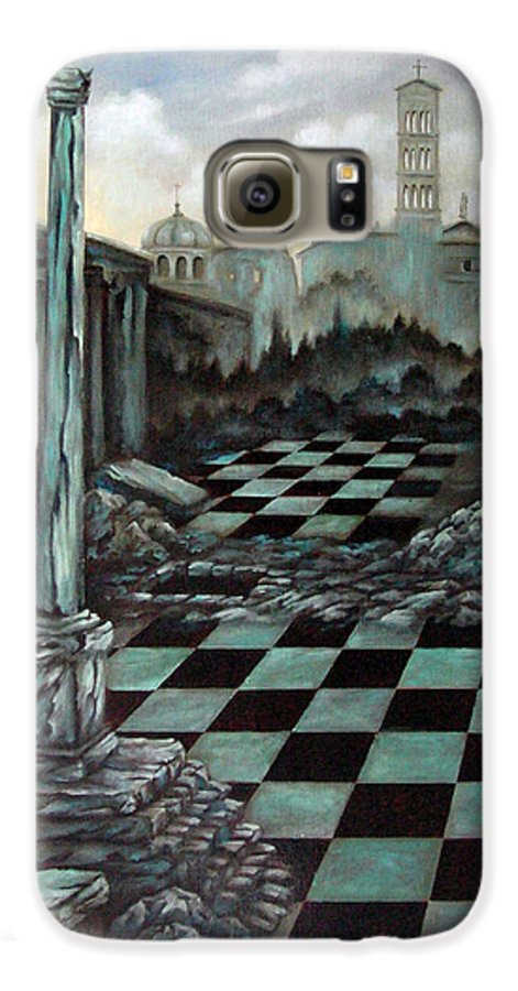 Surreal Galaxy S6 Case featuring the painting Sepulchre by Valerie Vescovi