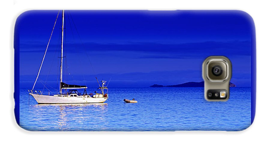 Transportation. Boats Galaxy S6 Case featuring the photograph Serene Seas by Holly Kempe