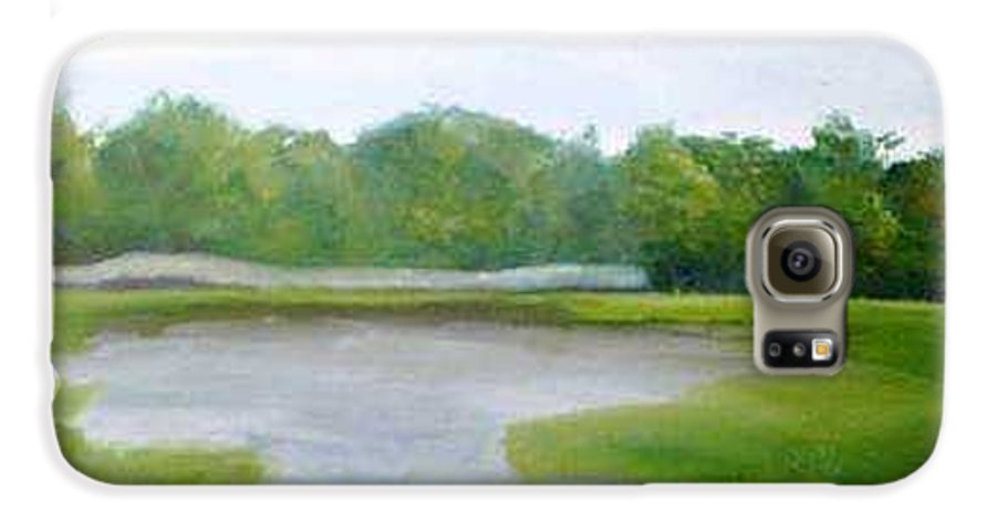 Landscape Galaxy S6 Case featuring the painting Serene Vista by Sheila Mashaw
