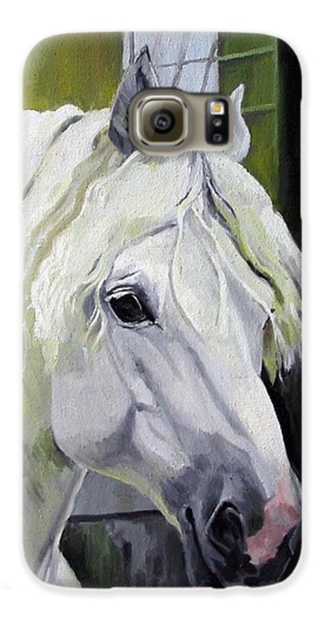 Horse Galaxy S6 Case featuring the painting Shadowfax by Nel Kwiatkowska