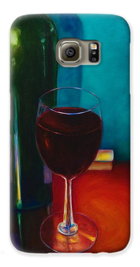 Wine Bottle Galaxy S6 Case featuring the painting Shannon's Red by Shannon Grissom
